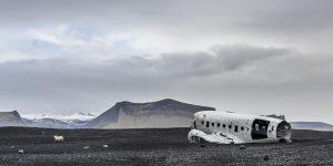 Flugzeugwrack zum Thema Flugzeugfonds
