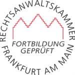 Prüfsiegel der Rechtsanwaltskammer Frankfurt am Main